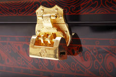 Golden lock. On the Chinese Royalty Free Stock Photography