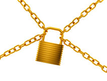 golden lock Stock Photography
