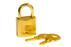 Golden Lock Royalty Free Stock Images