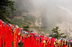 Golden locks at holy Mount Hua Shan, China Stock Photography
