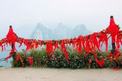 Golden locks at holy Mount Hua Shan, China Stock Images