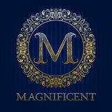 Golden logo template for magnificent boutique Stock Photo
