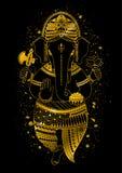Golden lord Ganesha Stock Photos