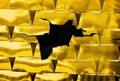 Golden loss collapse stock photo