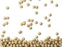 Golden lottery balls rain Stock Image