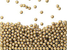 Golden lottery balls rain Royalty Free Stock Photography