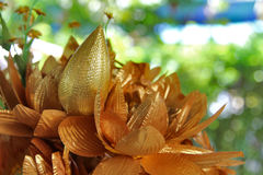 Golden Lotus Royalty Free Stock Photo