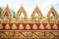 Golden Lotus church walls  Temple Royalty Free Stock Photos