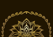 Golden lotus flower Royalty Free Stock Photos