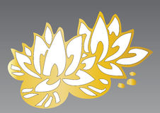 Golden lotus flowers Stock Photos