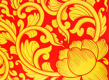 Golden lotus pattern Royalty Free Stock Image