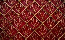 Golden lotus pattern curved steel Stock Photo