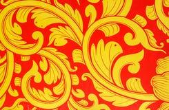 Golden lotus pattern Royalty Free Stock Photo