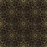 Golden lotus seamless pattern Royalty Free Stock Photo