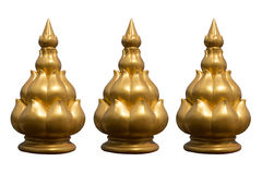 Golden lotus statue Stock Photo