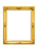 Golden louise vintage photo frame isolated on white background. With empty space in the middle royalty free stock images