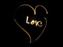 Golden love heart Royalty Free Stock Image