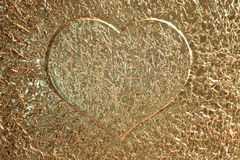 Golden love heart background Stock Photo