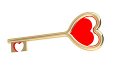 Golden love key Stock Photography