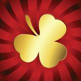 Golden lucky clover Stock Photography