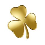 Golden Lucky Clover Royalty Free Stock Images