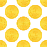 Golden Lucky Money Seamless Pattern Royalty Free Stock Photos