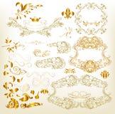 Golden Luxury Calligraphic Design Elements Royalty Free Stock Photography