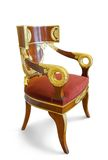 Golden luxury chair Stock Photo