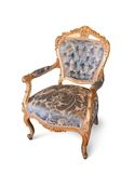 Golden luxury chair Stock Images