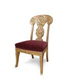 Golden luxury chair, Isolated Royalty Free Stock Photos