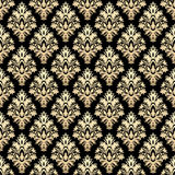 Golden luxury damask seamless pattern Royalty Free Stock Photography