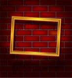Golden luxury empty frame Stock Photo
