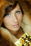 Golden Luxury Gift Stock Photos