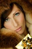Golden Luxury Gift Stock Images