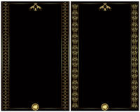 Golden luxury heraldic style banner card Stock Images
