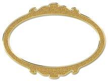 Golden luxury round frame on white background Stock Photo