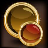 Golden luxury round label Royalty Free Stock Photo