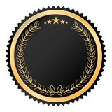 Golden luxury seal and label design Royalty Free Stock Photo