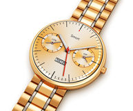 Golden luxury smart watch Royalty Free Stock Image