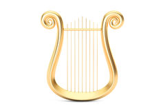 Golden Lyre, 3D rendering Royalty Free Stock Photo