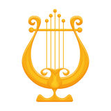 Golden Lyre vector illustration  on white background Stock Photography