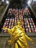 Gold Madonna in Milan Cathedral stock image