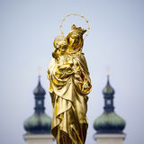 Golden Madonna Statue Tutzing Royalty Free Stock Photography
