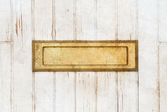 Golden Mailbox Stock Image