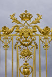 Golden Main Gates of the Versailles Palace Royalty Free Stock Photo