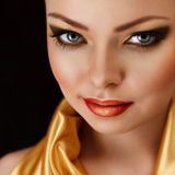 Golden make-up Royalty Free Stock Photos