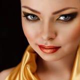 Golden make-up Royalty Free Stock Photos
