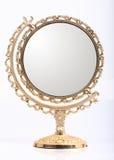 Golden makeup mirror Stock Photo