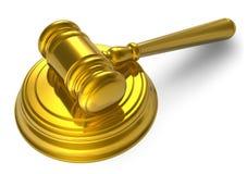 Golden mallet Stock Image