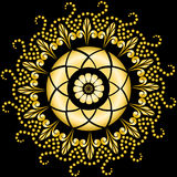 Golden mandala on the black Royalty Free Stock Photography